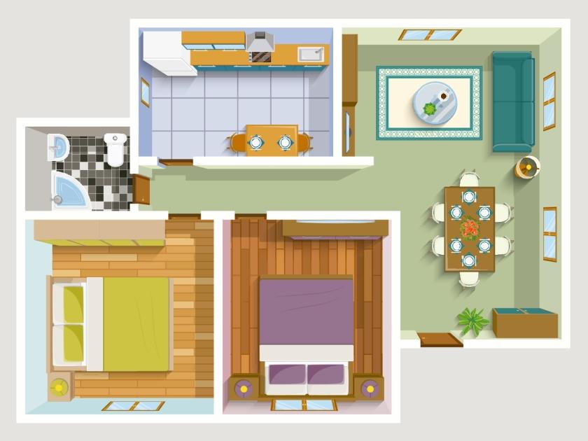 Consulte a planta do apartamento