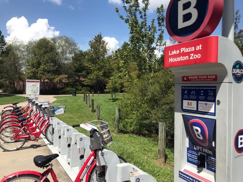 Uma das estações da B-Cycle
