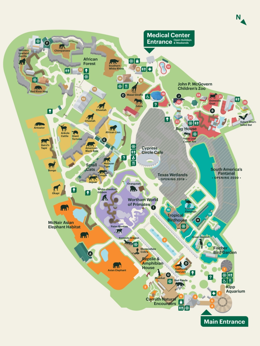 Mapa completo do zoológico