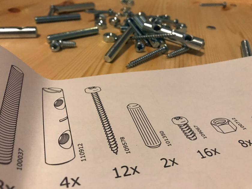 Instruções para montagem de móveis