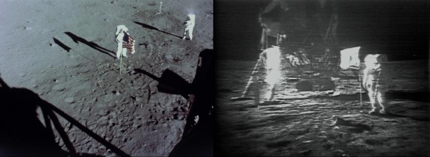 Imagens transmitidas da lua