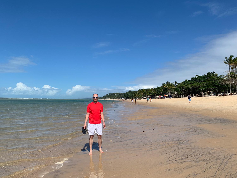 Extensa faixa de areia