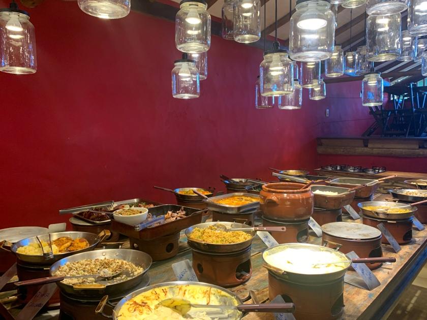 Self-service do restaurante