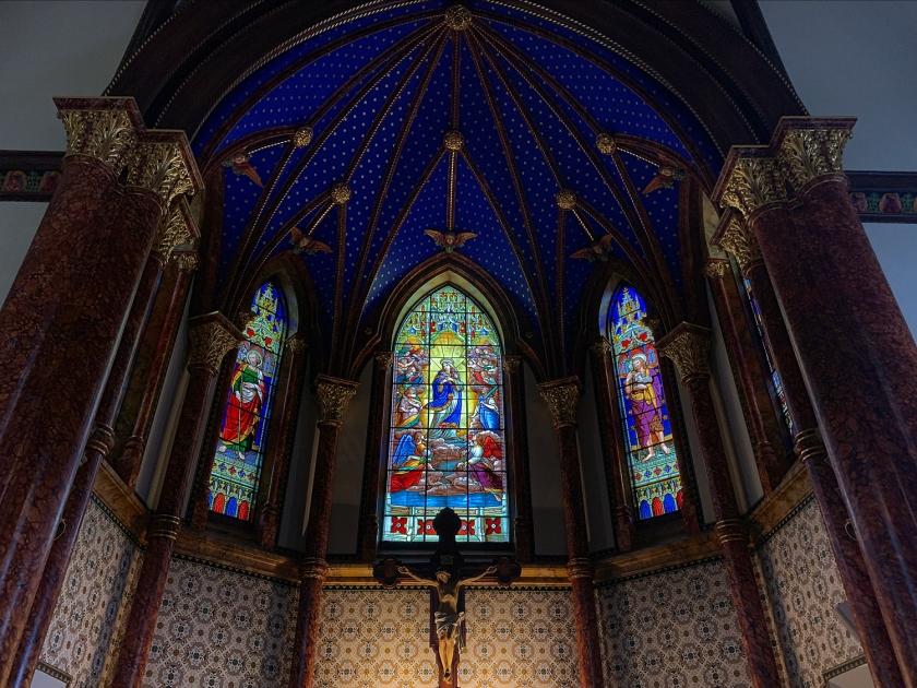 Altar com céu estrelado