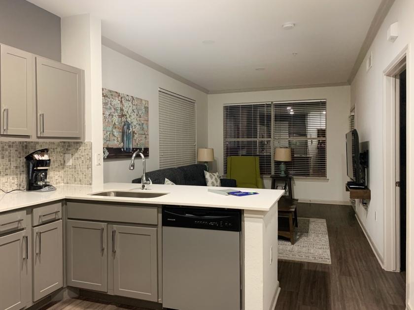 Cozinha e sala integrados