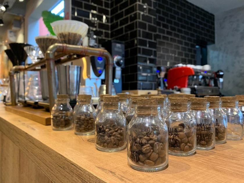 Grãos de cafés selecionados