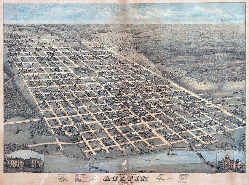 Mapa da cidade em 1873