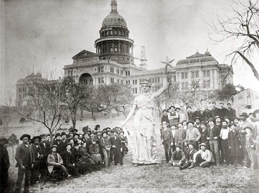 Estátua do Texas Capitol em 1888