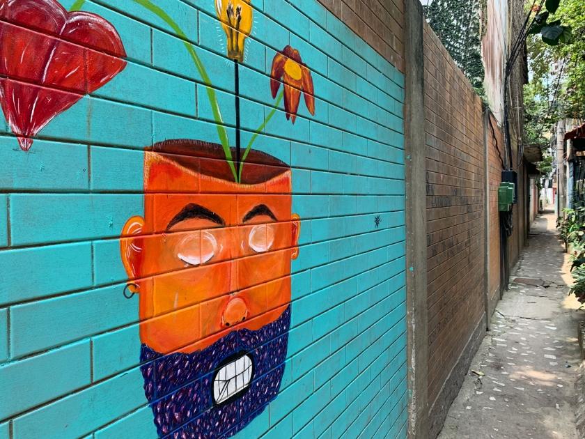 Arte nos muros do beco