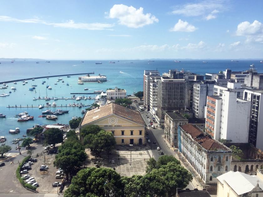 Vista da Praça Tomé de Souza