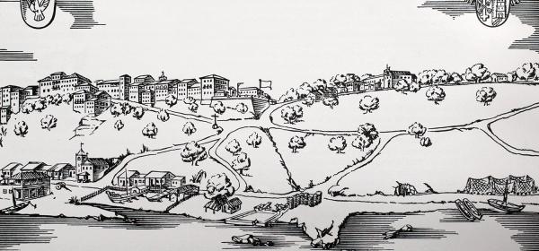 Mapa de Salvador em 1600