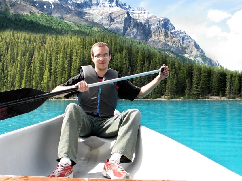 Aluguel de canoas no lago