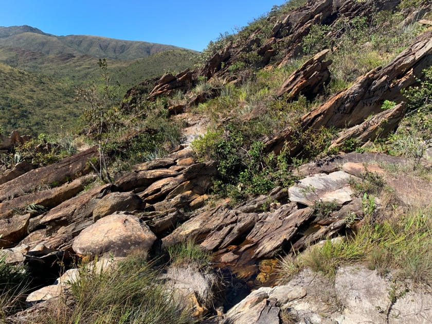 Rochas moldadas pela água e pelo vento