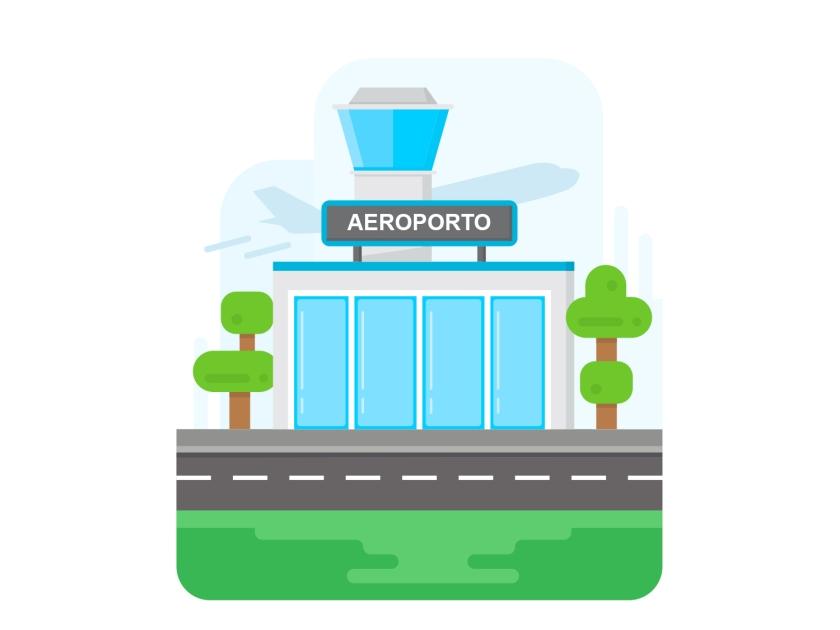 Avião e aeroporto
