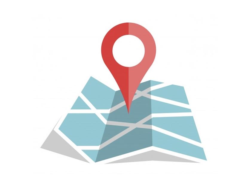 Mapa com destino