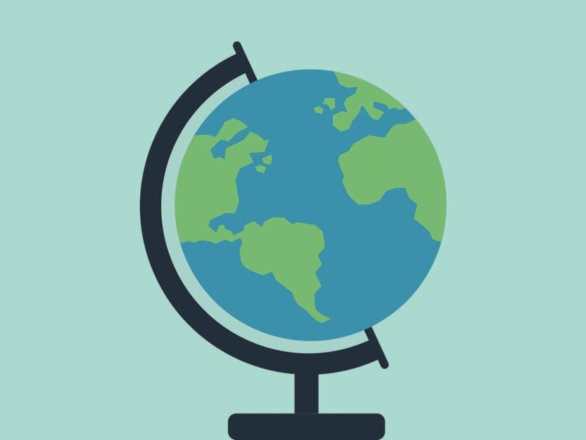 Globo do planeta terra