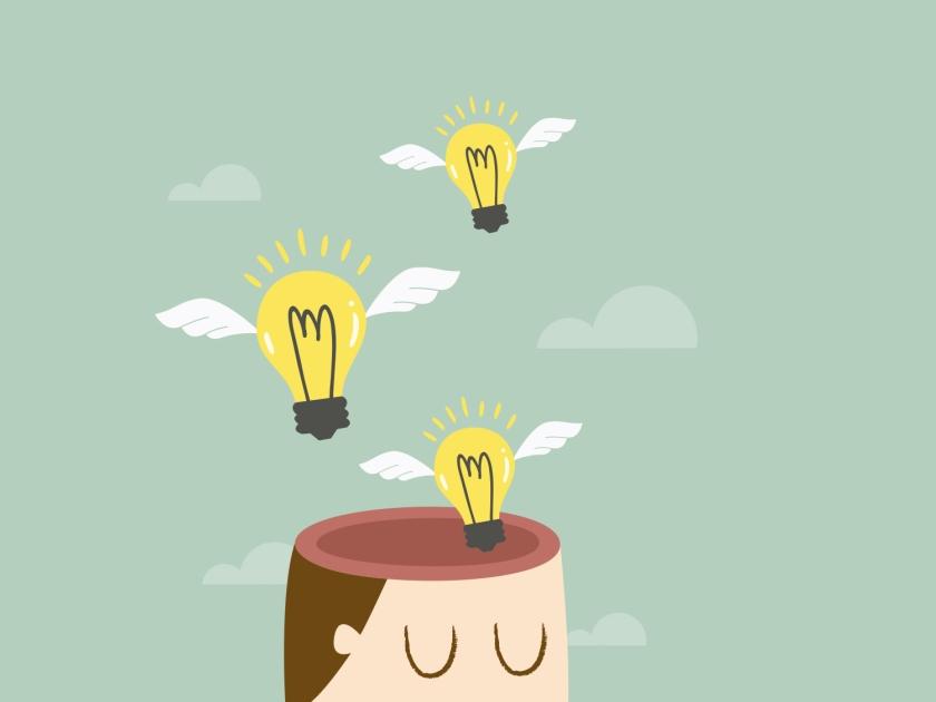 Pessoa com ideias