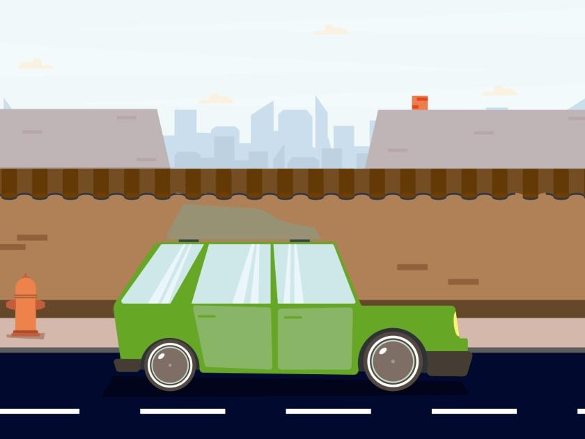Carro na rua da cidade