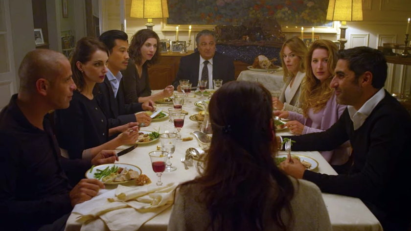 Família reunida para o jantar