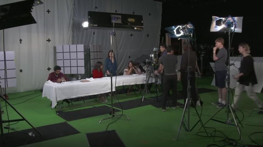 Filmagem de referência para a animação