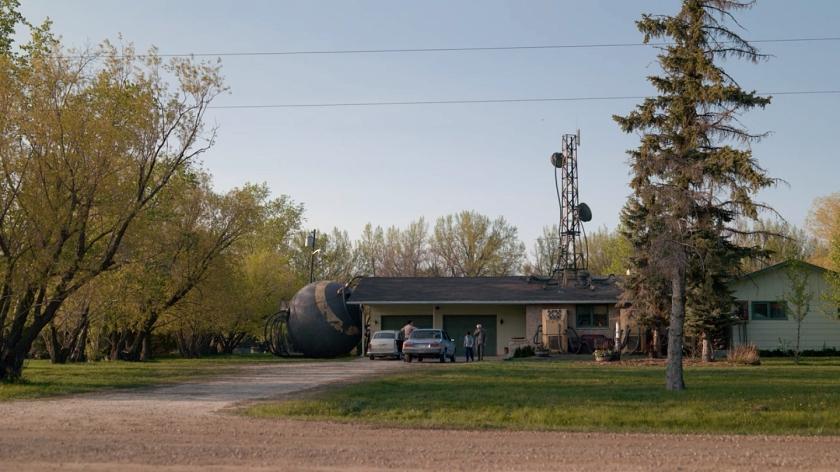 Paisagem rural de Saskatchewan