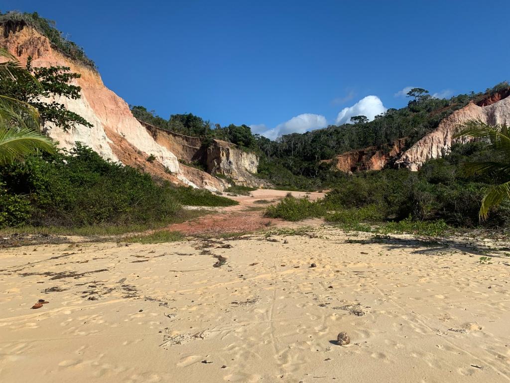 Falésias na praia