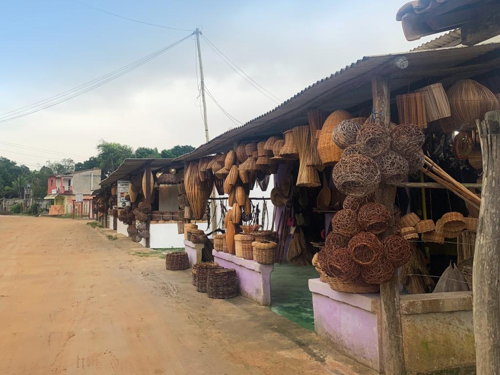 Artesanato indígena em Imbiriba