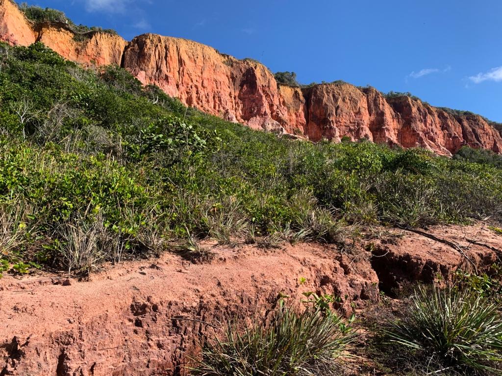 Falésias marcam a paisagem