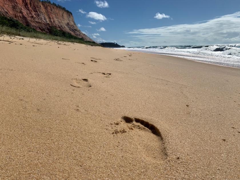 Caminhada pelo litoral sul