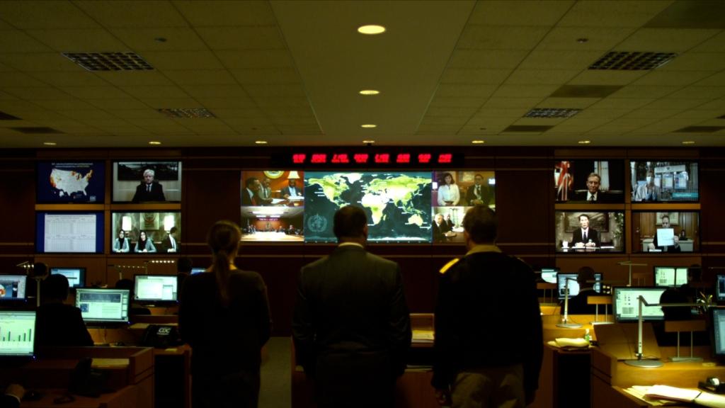 Líderes mundiais em videoconferência