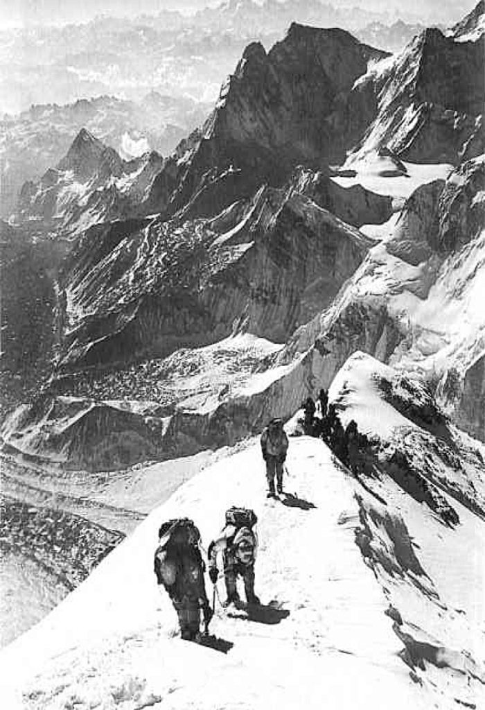 Trabalhadores locais na montanha