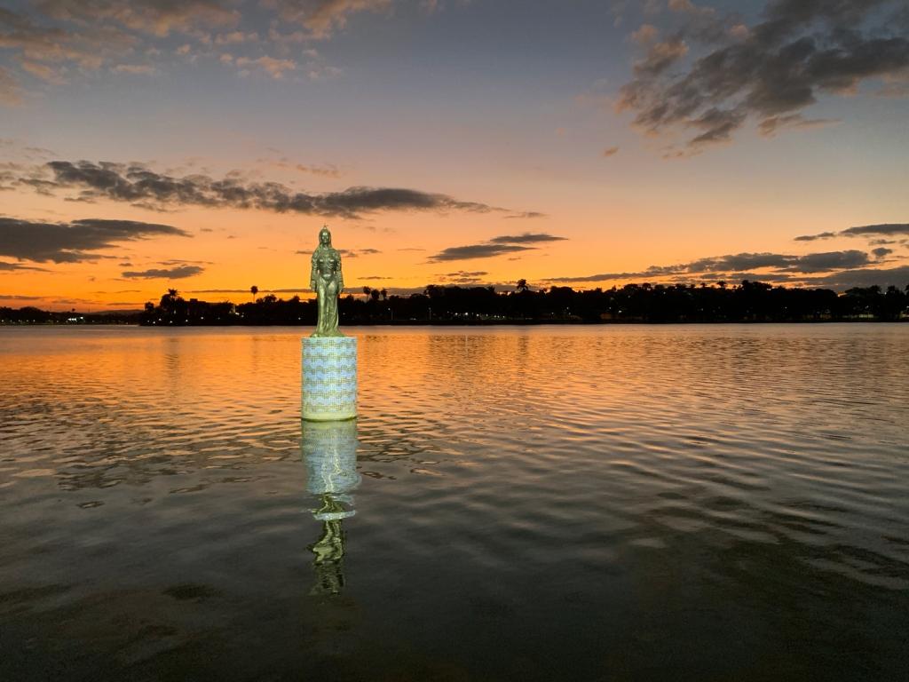 Iemanjá na Lagoa da Pampulha de Belo Horizonte