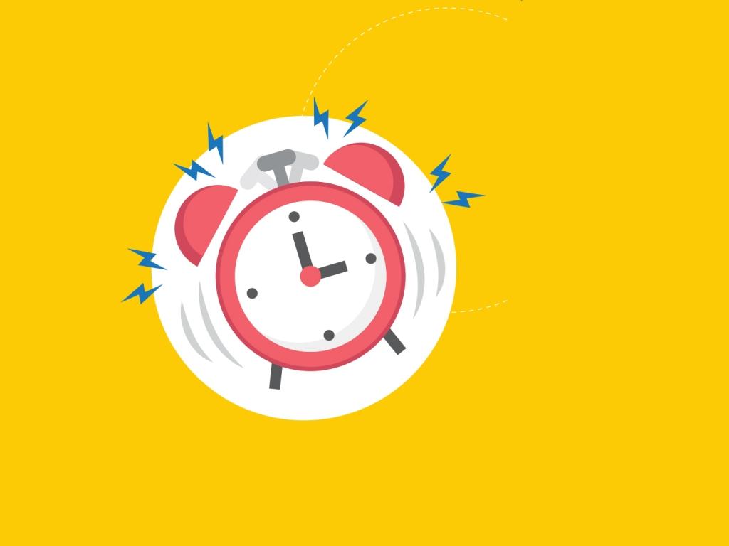 Alarme no relógio