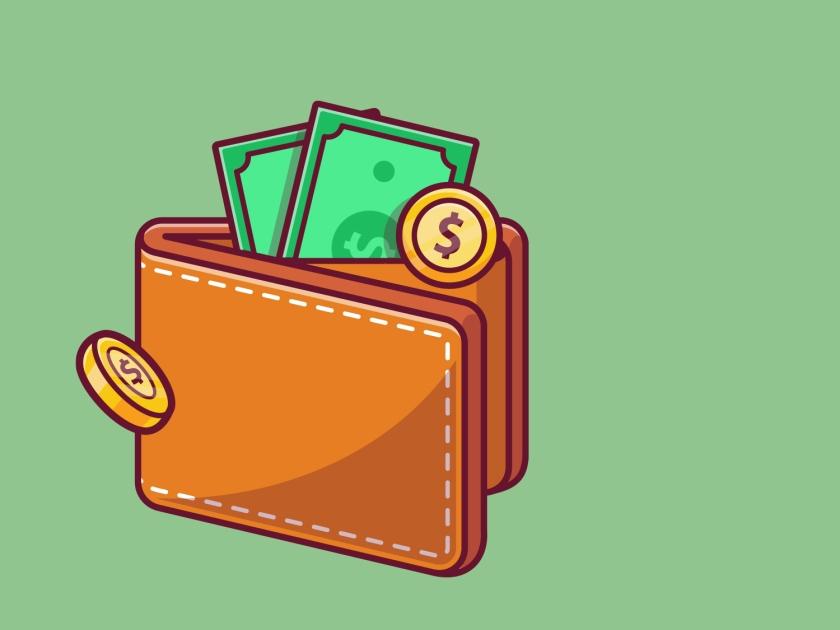Carteira com dinheiro