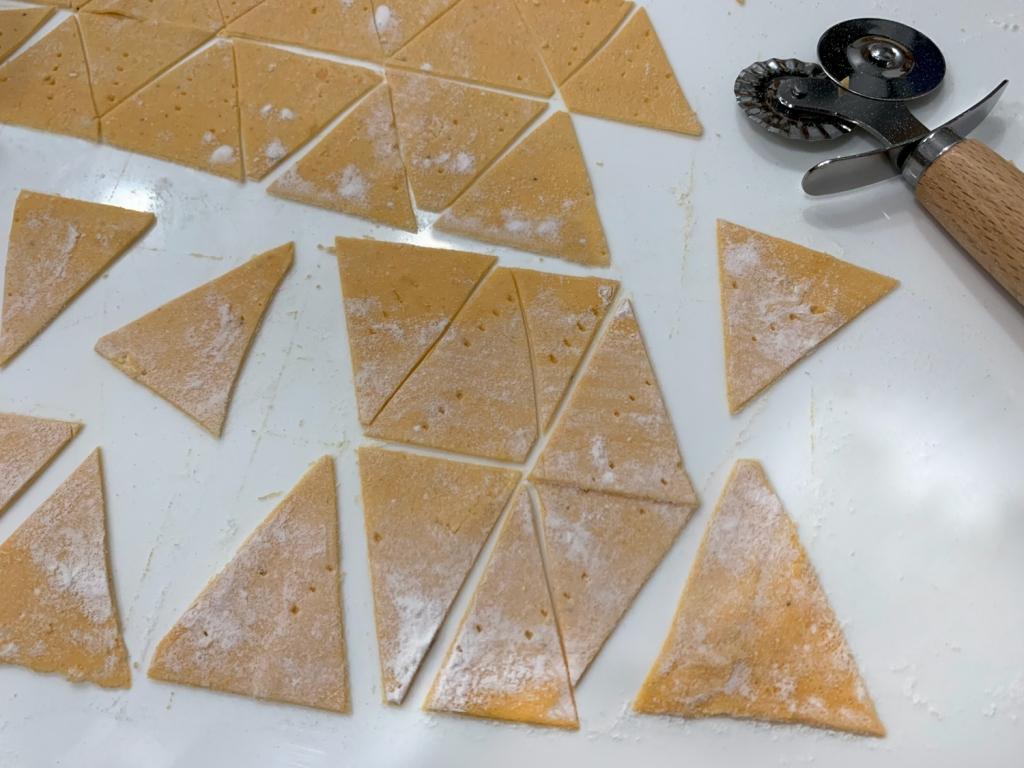 Corte em triângulos