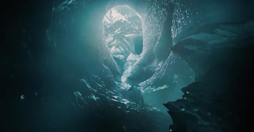 Caverna no gelo