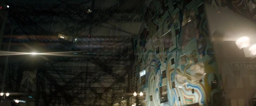 Mural e outros elementos da cidade